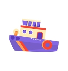 Partol Toy Boat vector