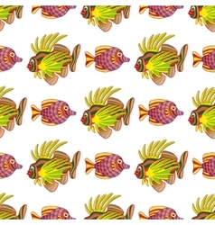 pattern with fishes vector image
