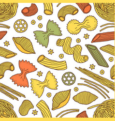 pattern with pasta vector image