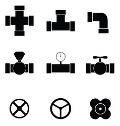 Pipe icon set vector