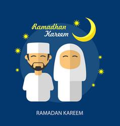 Ramadhan kareem conceptual design vector