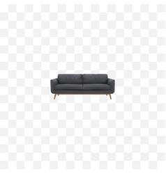 Realistic settee element of vector