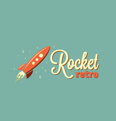 Retro rocket abstract sign emblem or logo vector