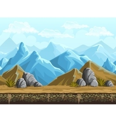 seamless background snowy mountains vector image