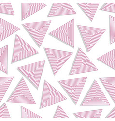 seamless triangles vector image