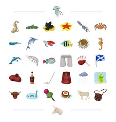 Species sea animal and other web icon in cartoon vector