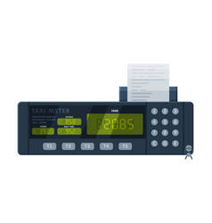 Taximeter device calculating equipment vector