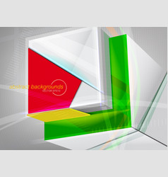 Transparent rectangle colors motion graphics vector