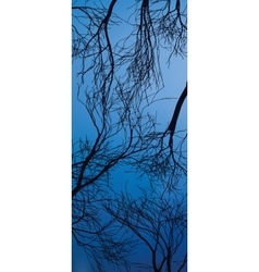 Trees silhouette Tree isolated on blue sky vector