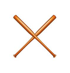 Two crossed baseball bats vector