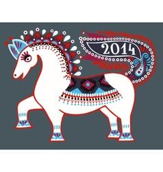 ukrainian tribal ethnic painting unusual horse vector image