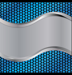 Wave silver blue vector