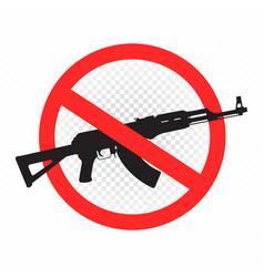 Weapon forbidden sign icon vector
