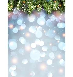 Winter flickering background vector