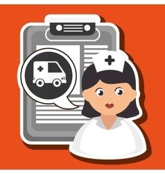 Woman medical service icon vector