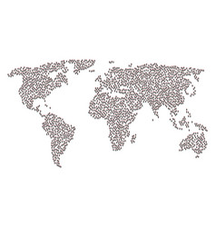 Worldwide map collage of daemon icons vector