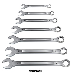 Wrench tool Wrench isolated on white background vector image