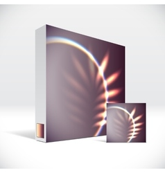3D Identity box with abstract shiny cover vector image