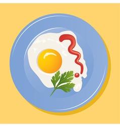 fried egg vector image