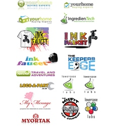 Logo Set 4 vector image vector image