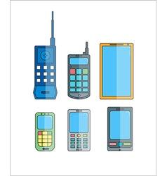 Phone evolution icons Communication telephone vector image
