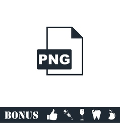 PNG file icon flat vector image