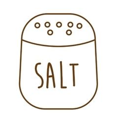 salt ingredient isolated icon vector image