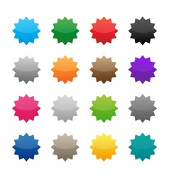 Blank colorful stickers vector image vector image