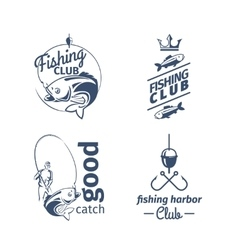 fishing club emblems vector image