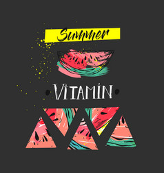 hand drawm funny summer unusual background vector image vector image