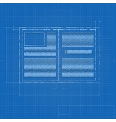 Opened notebook stylized drawing vector image