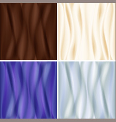 set of satin backgrounds vector image vector image