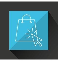 concept e-commerce cart and bag shop design vector image