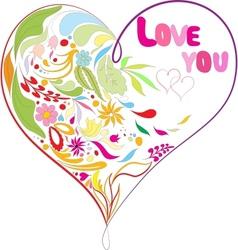 Doodles heart vector image vector image
