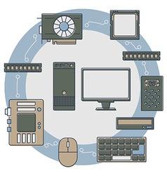 Equipment logo vector image