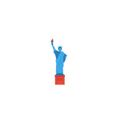 flat icon statue of liberty element vector image vector image