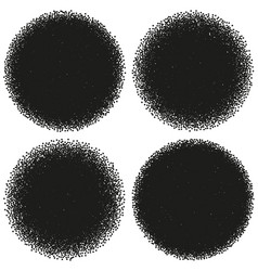 halftone circle abstract dotwork objects eps 10 vector image