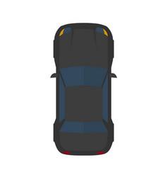 modern flat black car vector image