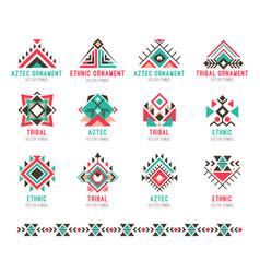 native tribal pattern set vector image