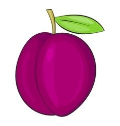 Plum icon cartoon style vector image