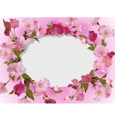 Spring flowers horizontal background vector image vector image
