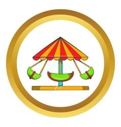 Boat carousel icon vector
