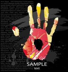 hand print splashes vector image