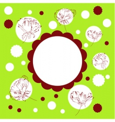 template for greeting card vector image
