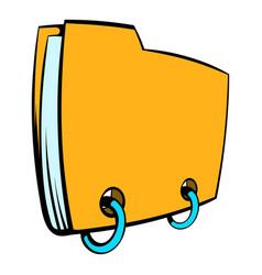 Yellow file folder icon cartoon vector