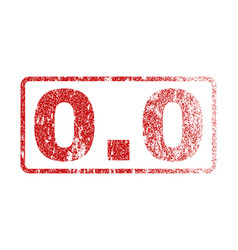 00 rubber stamp vector