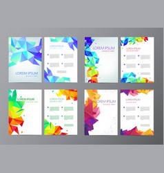 abstract modern flyers brochures set design vector image