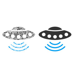 Alien invasion collage of service tools vector
