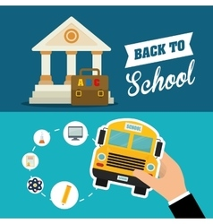 Back to school icon set design vector