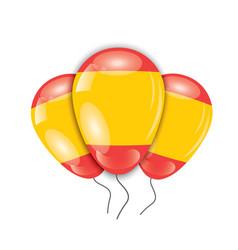 Ballons with spain flag vector